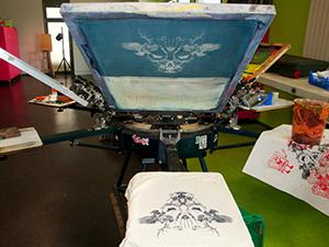 Machine de sérigraphie textile