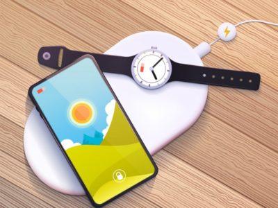 Charge sans-fil de smartphone et smartwatch